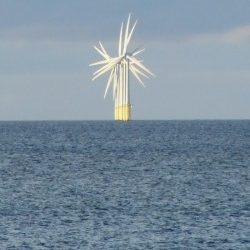 wind turbine in sea
