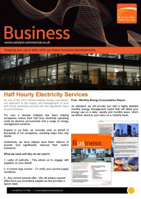 Half Hourly Electricity Services