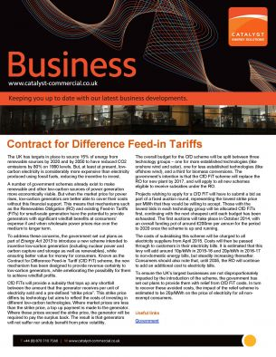 Non-Commodity - Contract for Difference Feed-in Tariffs