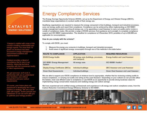 Energy Compliance Services